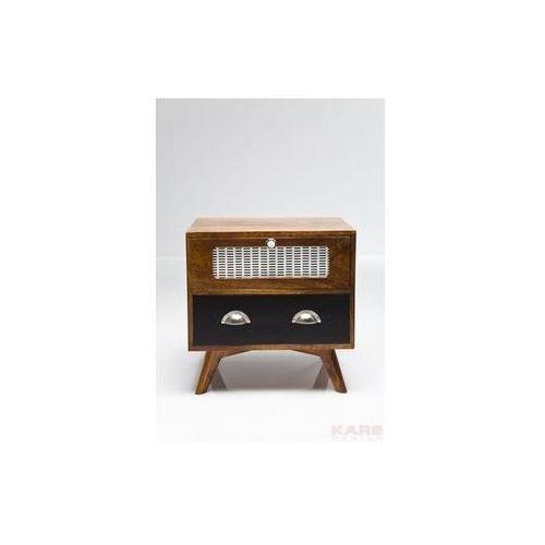 Kare Design Babalou Designerski Drewniany Stolik Nocny Drewno Topoli lakierowone 50x40cm - 78031 - produkt dostępny w sfmeble.pl