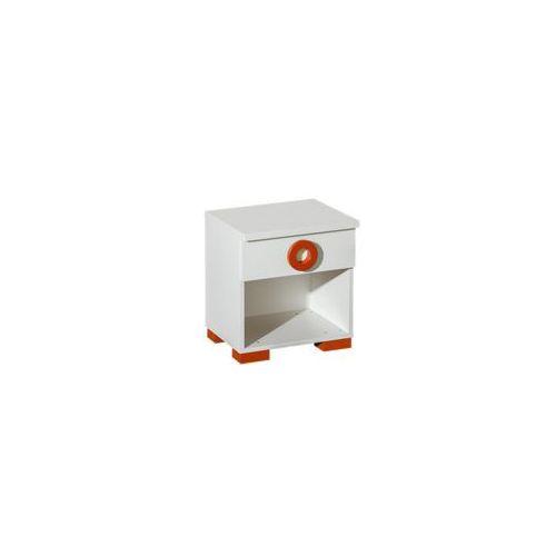 Stolik nocny biały - Classic (pomaranczowy) - oferta [05add3a0bf930635]