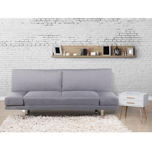 Sofa z funkcja spania jasnoszara - kanapa rozkladana - wersalka - YORK - produkt z kategorii- wersalki