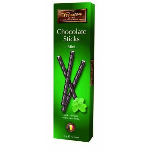 paluszki czekoladowe gorzkie miętowe 75g marki Trianon