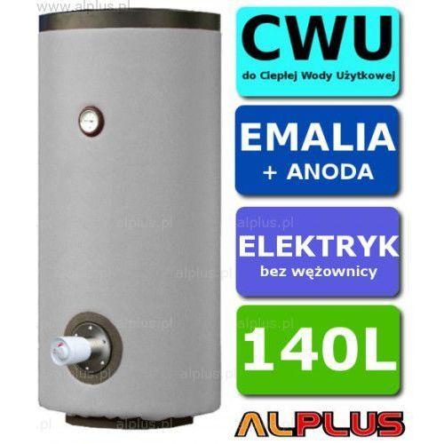 Alplus Elektryczny bojler 140l 2kw emaliowany, ogrzewacz wody elektryczny pionowy stojący, 140 litrów, 128cm x 46cm, wysyłka gratis