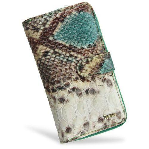 b09dba1a4130d Peterson Portfel damski skórzany lakierowany bardzo pojemny skóra węża 603  199,00 zł Stylowy portfel kobiecy polskiej firmy Peterson.