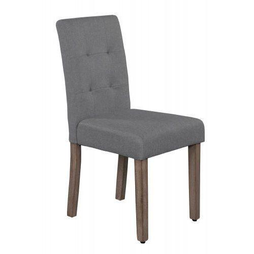 Krzesło tapicerowane drewniane dx17-1 jasnoszary marki Meblemwm