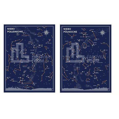 Plakat niebo południowe i niebo północne w zestawie 2 szt. marki Follygraph