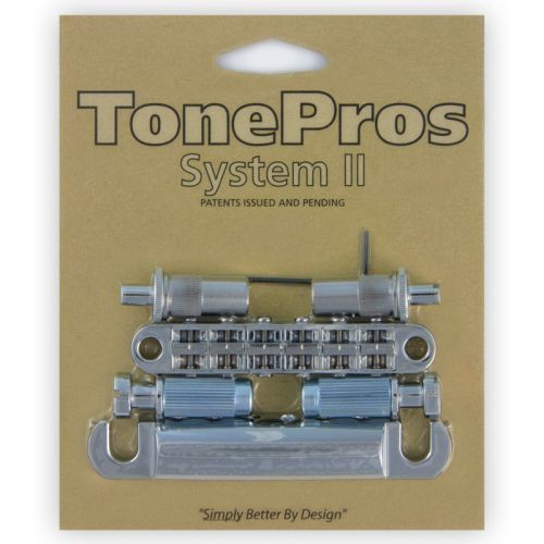 lpm02-c - bridge and tailpiece set, mostek do gitary, chromowany marki Tonepros