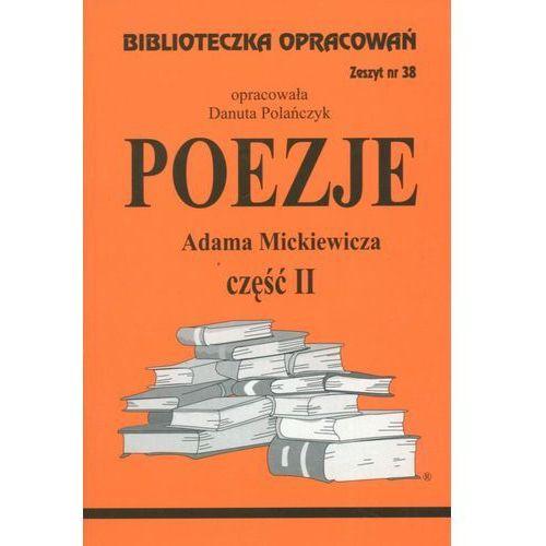 Poezje Adama Mickiewicza cz. II Zeszyt 38 (2001)