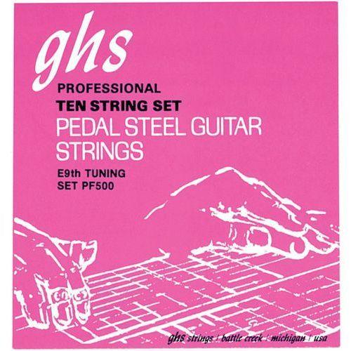 Ghs pedal steel niklowany rockers - struny do pedal steel guitar, 10-strings, c6 tuning,.012-.036