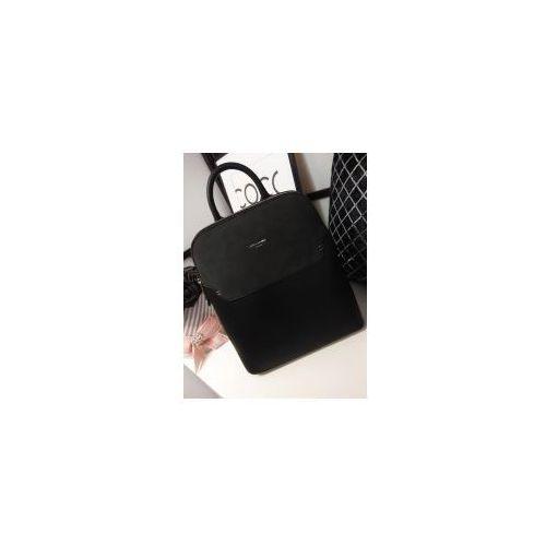 1659f7cb902db Torebka plecak czarny David Jones, 5900_0026 119,00 zł Czarna torebka  plecak David Jones. wytwarzany z organicznej skóry najwyższej jakości w  uniwersalnym ...