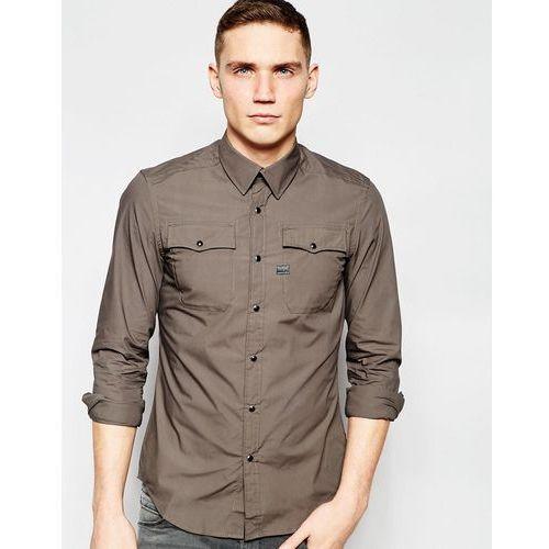 Landoh 2 Pocket Slim Fit Shirt - Grey, G-Star