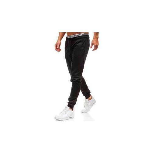 Spodnie męskie dresowe joggery czarne denley kk303 marki J.style