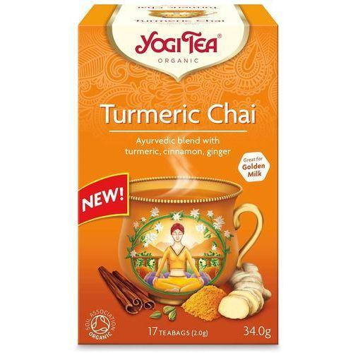 Herbatka złoty chai z kurkumą bio (17 x 1,8 g) marki Yogi tea