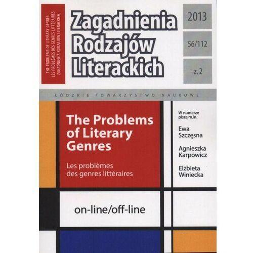 Zagadnienia Rodzajów Literackich t. 56 (112) z. 2/2013 - praca zbiorowa - ebook