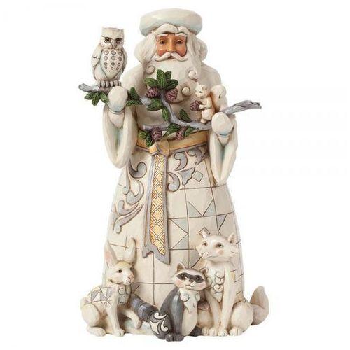 Mikołaj biały ojciec świąt natures winter wonders father christmaswhite woodland 4040900 figurka ozdoba świąteczna marki Jim shore
