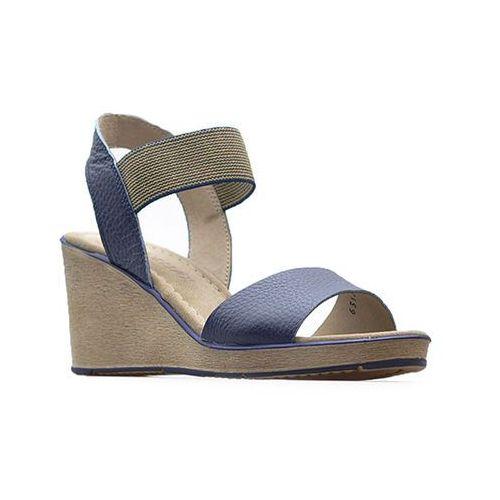Sandały Ryłko 6FFC0_X_XD3 Granatowe lico, kolor niebieski