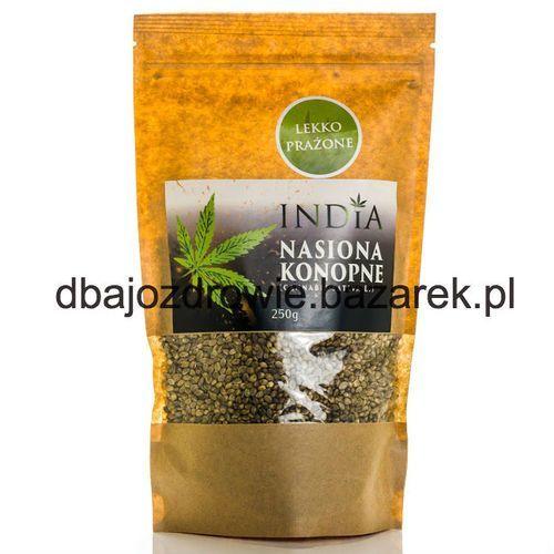 India cosmetics Nasiona konopne lekko prażone , 250g