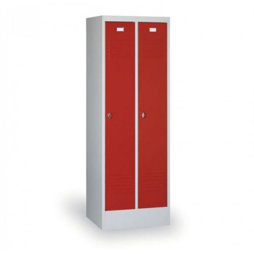 B2b partner Metalowa szafka ubraniowa, czerwone drzwi, zamek cylindryczny