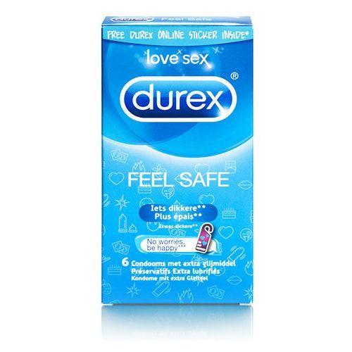Prezerwatywy nawilżane - emoji feel safe condoms 6 szt marki Durex