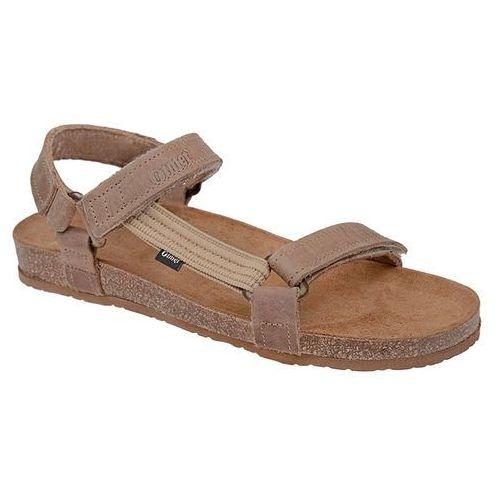Sandały 405cp beżowe jezuski bioform fussbett - beżowy   brązowy, Otmęt