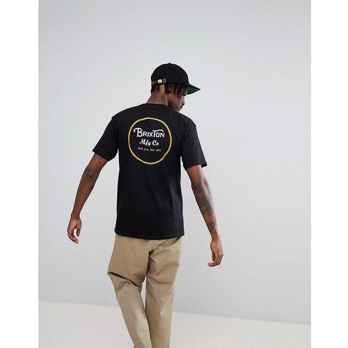 Brixton Wheeler T-Shirt With Back Print - Black, w 3 rozmiarach