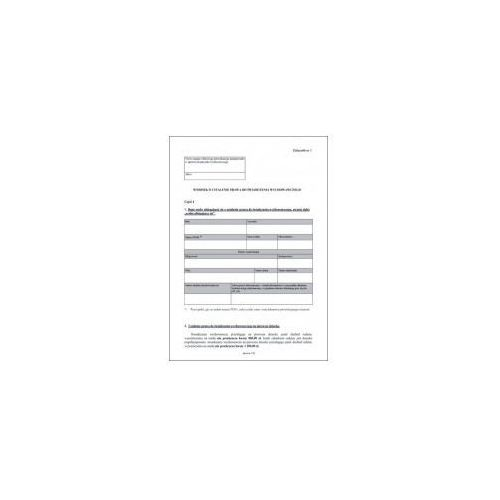 Wniosek o ustalenie prawa do świadczenia wychowawczego (zał. nr 1) rodzina 500 [pu/sw-1] marki Firma krajewski