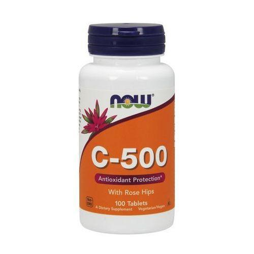 Tabletki Now Foods Witamina C-500 z dziką różą 100 tabl.