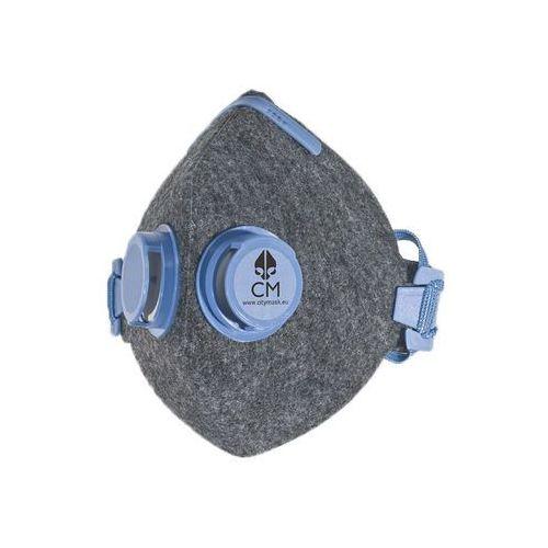 Citymask Higieniczna półmaska antysmogowa szaro-niebieska 2v n