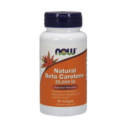 Now Foods Natural Beta Carotene (Beta Karoten) 25,000IU 90 kaps.