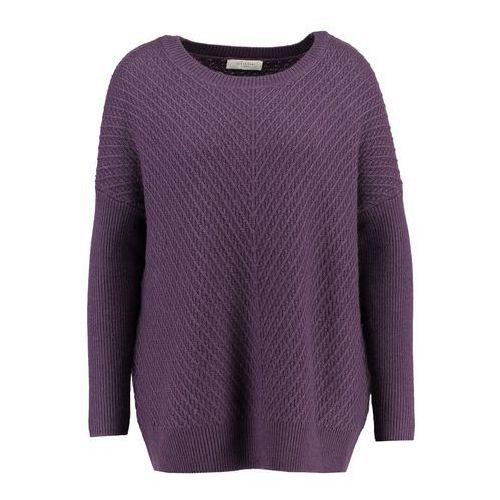 Selected Femme SFRILLE WIDE ONECK Sweter plum perfect, kolor fioletowy