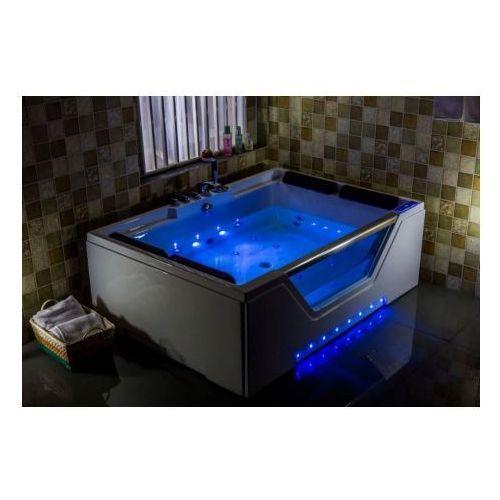Aquaholm Wanna c-3099 170cmx120cmx58cm 2-osobowa chromoterapia podgrzewacz wody