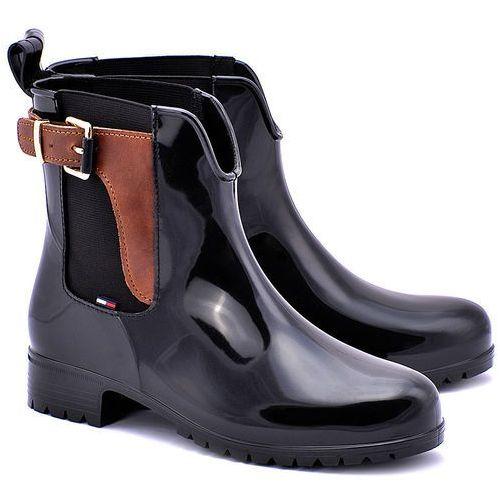 Oxley 2Z - Czarne Gumowe Kalosze Damskie - FW56817778 990 (kalosz damski) od MIVO Shoes Shop On-line