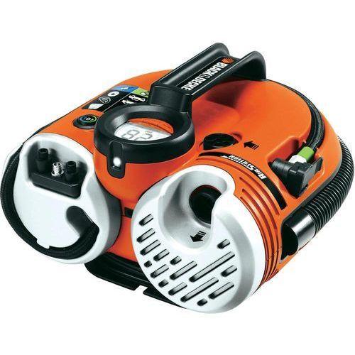Produkt Kompresor samochodowy, Black & Decker ASI500-XJ, 12/230 V lub akumulator, Ciśnienie robocze (maks.): 11 bar, marki Black & Decker
