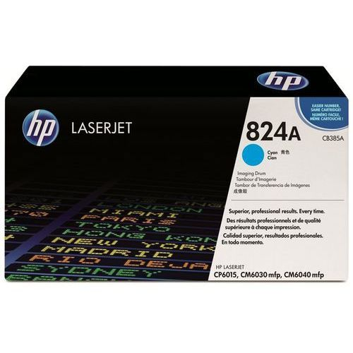 Hp Wyprzedaż oryginał bęben 824a do color laserjet cp6015/6030/6040   35 000 str.   cyan