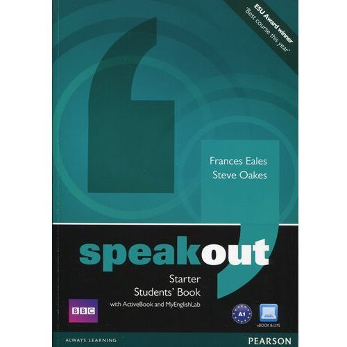 Speakout Starter, Student's Book (podręcznik) plus Active Book plus MyEnglishLab (160 str.)