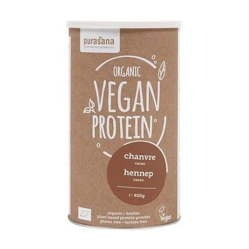 Purasana Białko konopne o smaku kakaowym bez laktozy, bezglutenowe bio 400 g - (5400706614634)