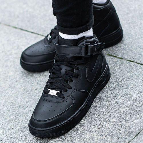 Nike Air Force 1 Mid GS, kolor czarny