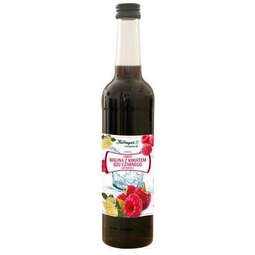 Syrop malina z kwiatem bzu czarnego i witaminą c 420ml marki Herbapol kraków