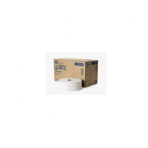 Papier toaletowy w roli jumbo Tork T1 6 szt. 2 warstwy 360 m średnica 26 cm biały makulatura