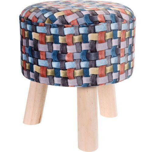 Pufa bawełniana, siedzisko, podnóżek, kolorowy - 32 x 35 cm (8719202554168)