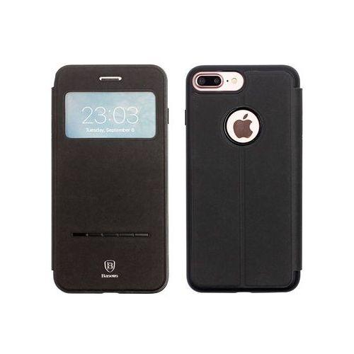 Apple iPhone 7 Plus - etui na telefon Baseus Simple Series Leather Case - czarne