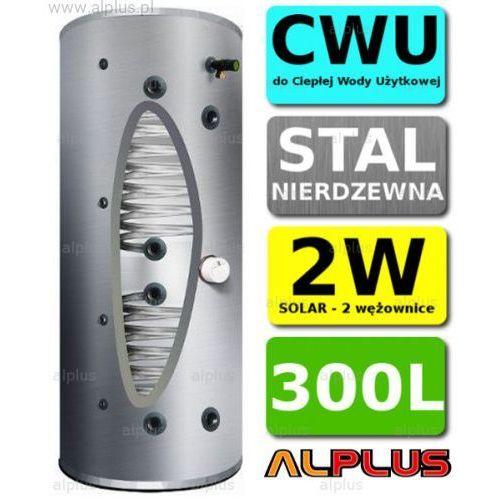Bojler JOULE CYCLONE 300L 2-wężownice 2W standardowa wysokość, nierdzewka wymiennik podgrzewacz CWU Wysyłka GRATIS, TCPMVS-0300NFC