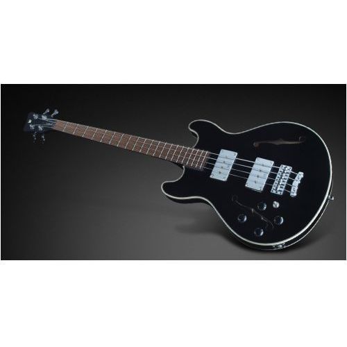 Rockbass star bass 4-string, solid black high polish, fretted - medium scale - lefthand gitara basowa