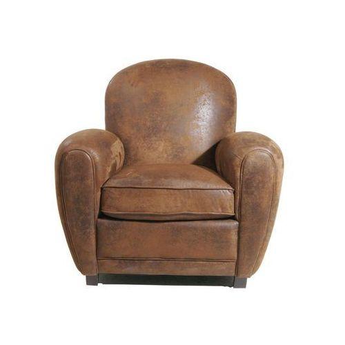 Colonial Vintage Round Fotel Brązowy Tkanina (72873), marki Kare Design do zakupu w sfmeble.pl