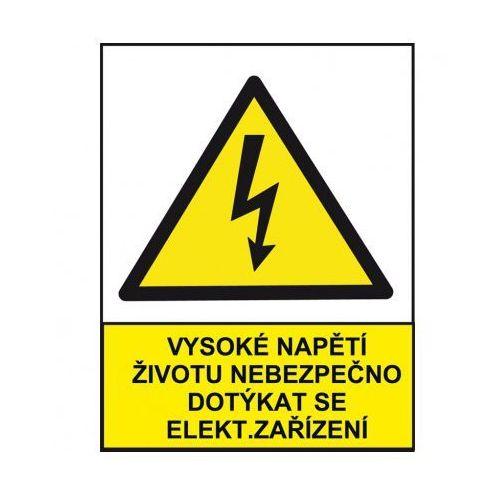 Wysokie napięcie niebezpieczne dla życia przy dotykaniu urządzeń elektrycznych marki B2b partner