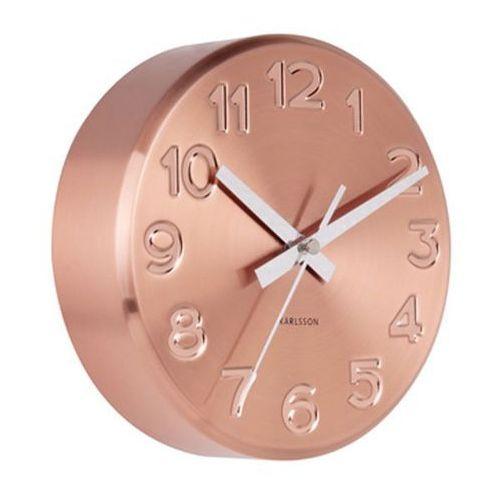 Zegar ścienny bold engraved numbers steel copper by marki Karlsson