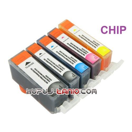 .PGI-525BK - CLI-526 tusze do Canon (5 szt z chipami, Crystal-Ink) tusze do Canon MG5250, MG5350, MG5150, iP4850, iP4950, MG6150, MG6250