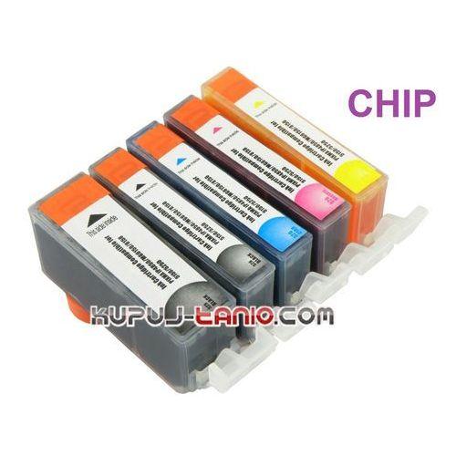 tusze PGI-525BK - CLI-526 do Canon (5 szt z chipami, Crystal-Ink) tusze do Canon MG5350, MG5250, MG5150, iP4850, iP4950, MG6150, MG6250, Cr 95260