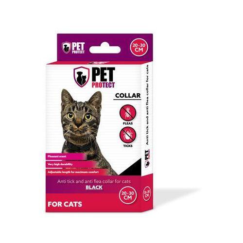 Petprotect - obroża odstraszająca insekty dla kota kolor: czarny 30cm