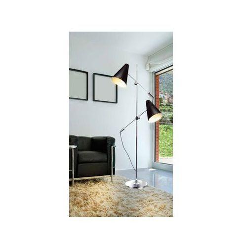 Lampa podłogowa Azzardo Kaja 2x40W E14 chrom/czarna FL-13054 BK, FL-13054 CH