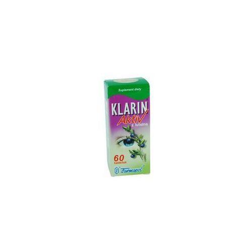 Klarin aktiv z luteiną x 60tabletek wyprodukowany przez Farmapol
