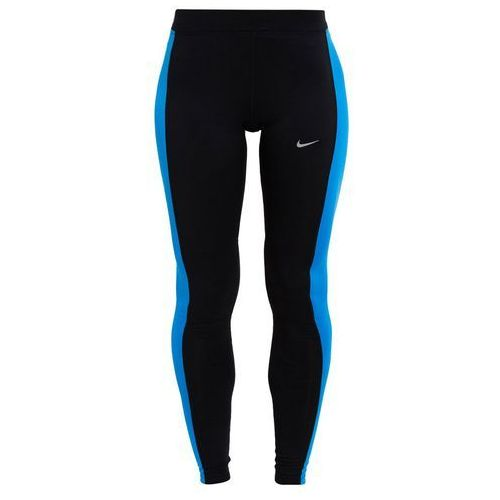 Nike Performance ESSENTIAL Legginsy black/light photo blue/reflective silver, rozmiar od 34 do 42, niebieski